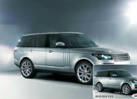 Land Rover Range Rover SUV Silver Car with Photo Trakk Vehicle Identification Card