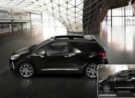Citroen DS3 Cabrio Black with Automobile Identification Card